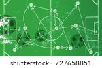 soccer illustration w. tactics... | Shutterstock .eps vector #727658851