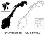 norway map vector illustration  ... | Shutterstock .eps vector #727659469
