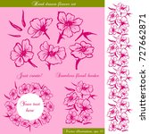 vector hand drawn flower set....   Shutterstock .eps vector #727662871