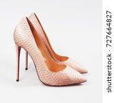 Stylish Female Pink Shoes Over...