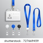 employees identification card... | Shutterstock .eps vector #727669459