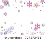 snowflake and circle elements... | Shutterstock .eps vector #727673491