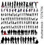 people silhouettes  vectors  | Shutterstock .eps vector #7276756