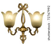 Vintage Wall Lamp Isolated On...