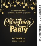 christmas party poster template.... | Shutterstock .eps vector #727680655