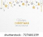 sparkling christmas glitter...   Shutterstock .eps vector #727681159