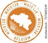 vintage belgium european... | Shutterstock .eps vector #727685149