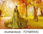 autumn woman  fashion model... | Shutterstock . vector #727685431
