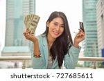 modern women with smart... | Shutterstock . vector #727685611