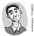 cartoon guy - illustration - stock vector