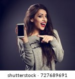 happy excite beautiful makeup...   Shutterstock . vector #727689691