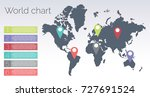 color world chart info graphic   Shutterstock .eps vector #727691524