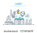 education in school. training ... | Shutterstock .eps vector #727693699