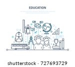 education concept. training ... | Shutterstock .eps vector #727693729