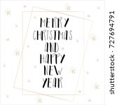 lettering with merry christmas. ... | Shutterstock .eps vector #727694791