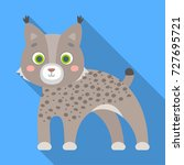 lynx  single icon in flat style.... | Shutterstock . vector #727695721