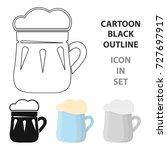 mug of beer icon in cartoon...   Shutterstock . vector #727697917