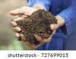 male farmers are using both... | Shutterstock . vector #727699015