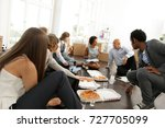 young start up professionals... | Shutterstock . vector #727705099