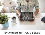 business structure diagram ... | Shutterstock . vector #727711681