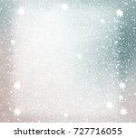 snowflakes on painting... | Shutterstock . vector #727716055