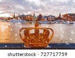 winter stockholm at sunset ... | Shutterstock . vector #727717759
