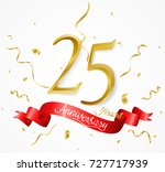 anniversary background with red ... | Shutterstock .eps vector #727717939