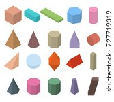 set of 3d geometric shapes.... | Shutterstock . vector #727719319