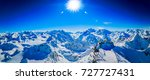 winter panorama landscape from...   Shutterstock . vector #727727431
