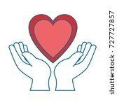 hands human protection with... | Shutterstock .eps vector #727727857