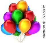 party balloons birthday... | Shutterstock . vector #72773149