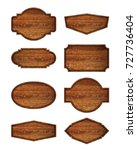 wooden sign boards isolated on... | Shutterstock . vector #727736404