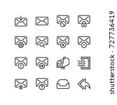 various set of email and... | Shutterstock .eps vector #727736419