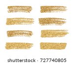 vector gold paint smear stroke... | Shutterstock .eps vector #727740805