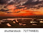 evros  greece. sunset at the... | Shutterstock . vector #727744831
