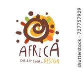 original african logo design... | Shutterstock .eps vector #727757929