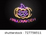 vector realistic isolated neon... | Shutterstock .eps vector #727758511