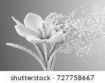 Digital Flower Disintegrates To ...