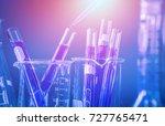 test tubes closeup  science... | Shutterstock . vector #727765471