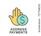 icon address payments. address... | Shutterstock .eps vector #727768231