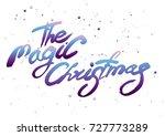 handwritten brush calligraphy ... | Shutterstock .eps vector #727773289