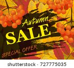 sign autumn sale. background... | Shutterstock . vector #727775035
