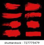 vector grunge red paint brush... | Shutterstock .eps vector #727775479