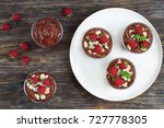 delicious chocolate mousse in... | Shutterstock . vector #727778305