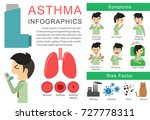 asthma symptoms and risk... | Shutterstock .eps vector #727778311