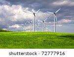 windmills on summer field | Shutterstock . vector #72777916