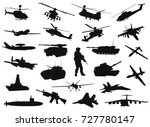vector military silhouettes... | Shutterstock .eps vector #727780147