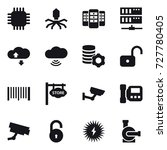 16 vector icon set   chip ... | Shutterstock .eps vector #727780405