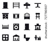 16 vector icon set   door ... | Shutterstock .eps vector #727780507