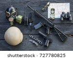 military equipment  | Shutterstock . vector #727780825